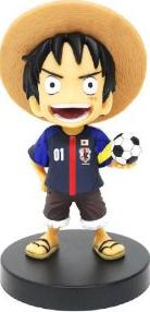 サッカー日本代表 ONEPIECE ボビングヘッド ルフィ